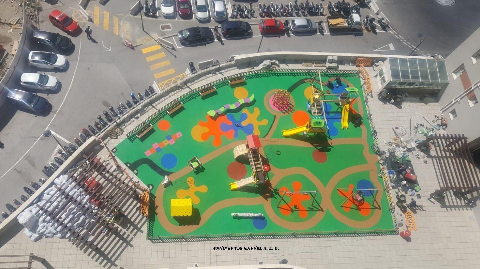Pavimentos de caucho Sevilla