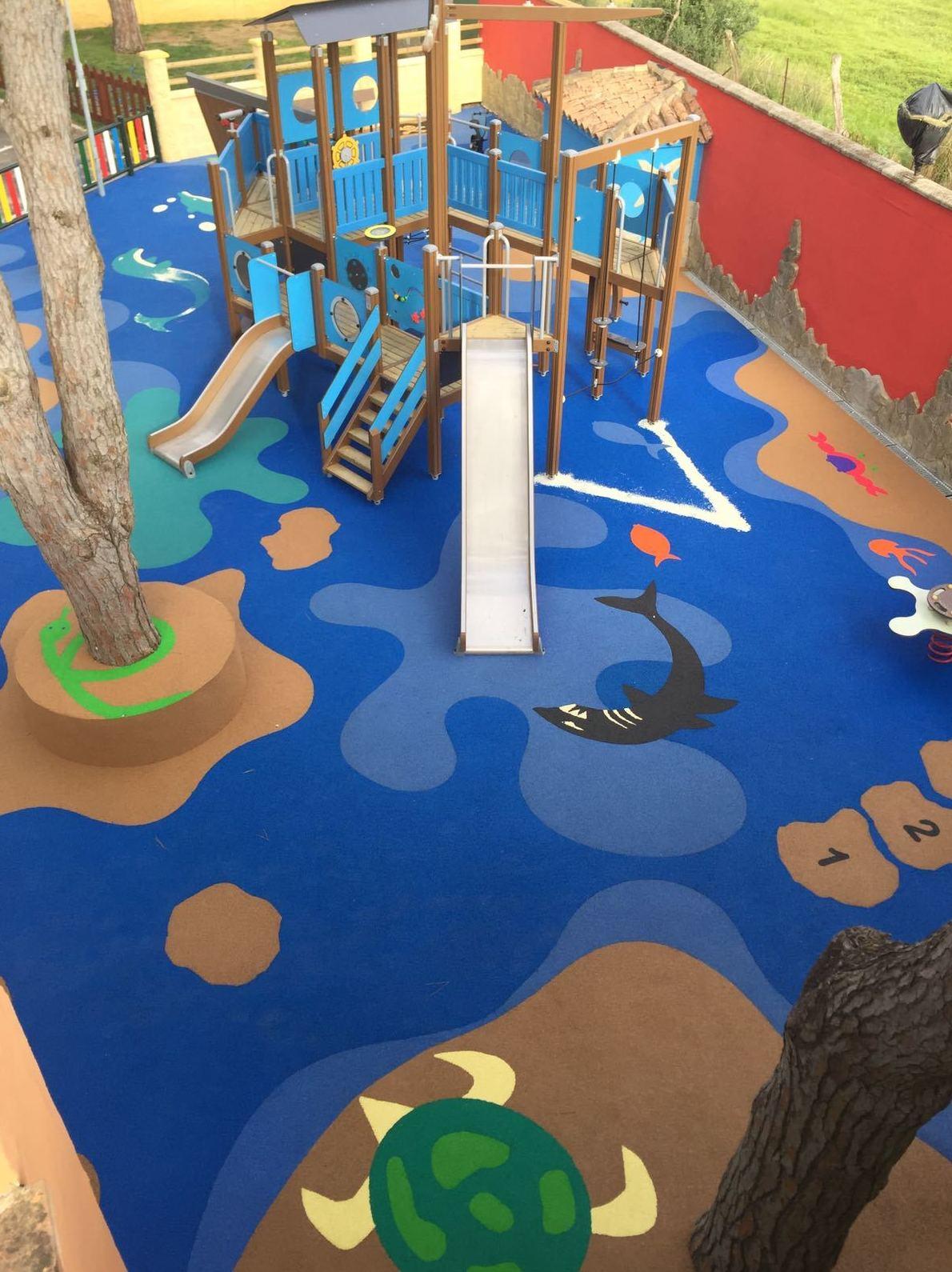Foto 70 de Instalación de pavimentos de caucho para parques infantiles en Las Cabezas de San Juan | Pavimentos Garvel