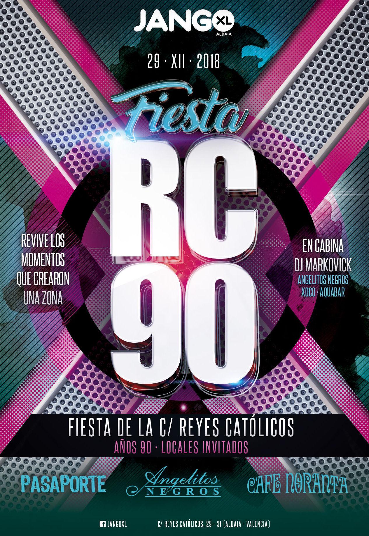 ¡1ª Fiesta homenaje zona Reyes Católicos años 90!