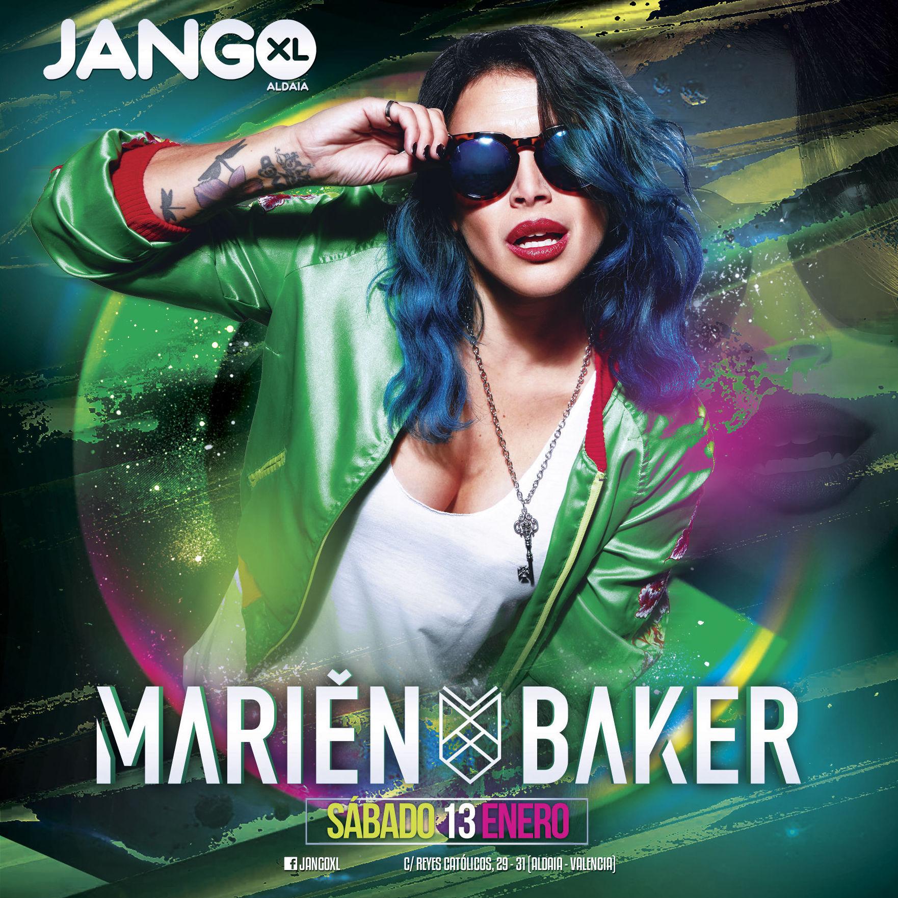Marien Baker en Jango XL sábado 13 de enero