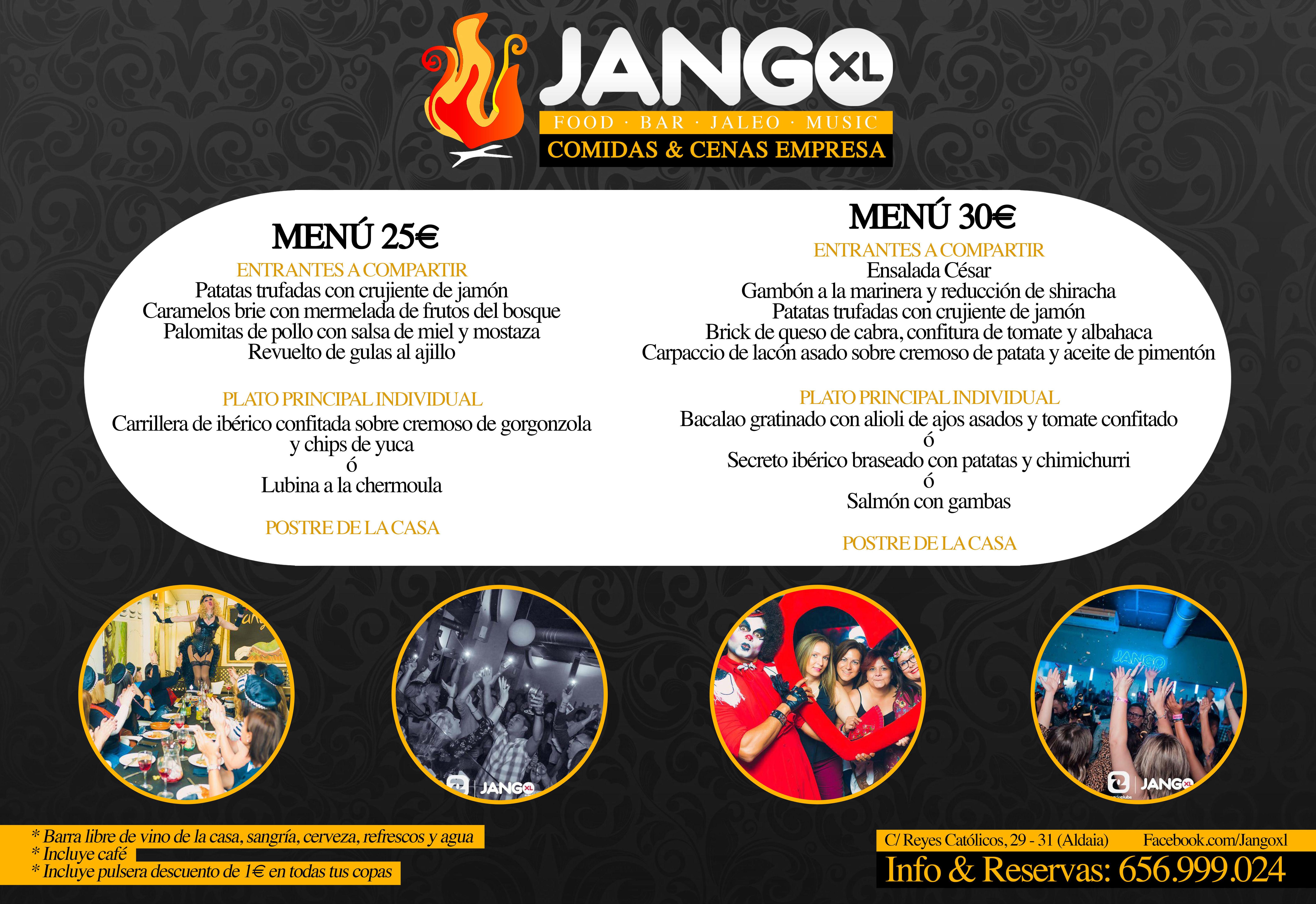 Menús comidas y cenas de Navidad: Servicios de JANGO XL