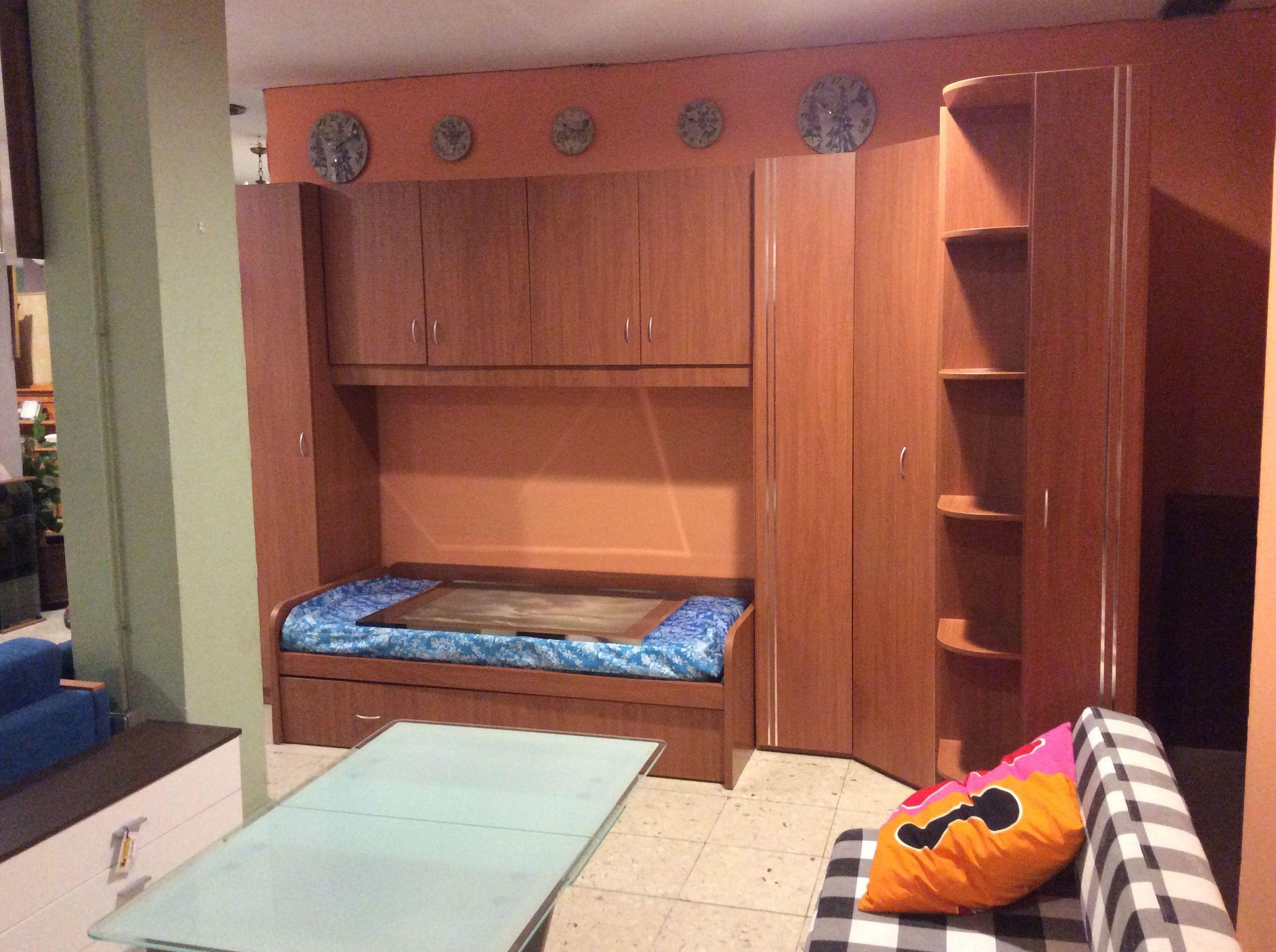 Mueble puente con cama nido