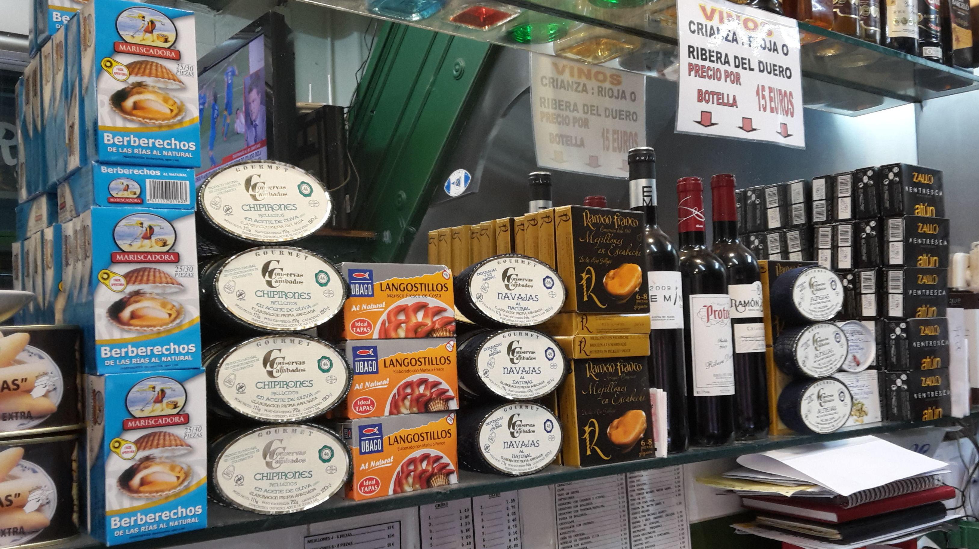 CONSERVAS: Especialidades de Bar Cervecería Alonso