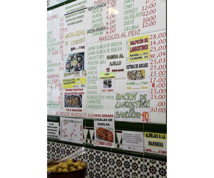 Gran variedad de raciones y marisco al peso en Prosperidad, Madrid