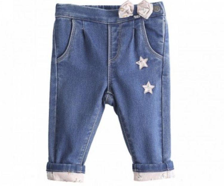 Pantalón vaquero con motivos en forma de estrella