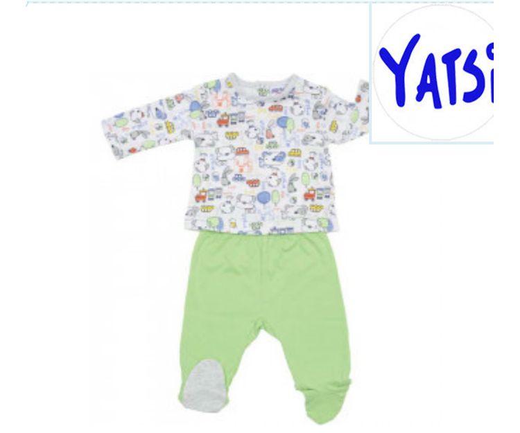 Conjunto de bebé con camiseta con fondo floral