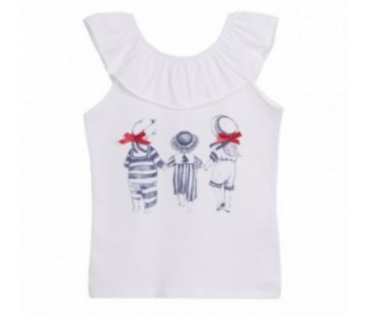 Camiseta de niñas sin mangas