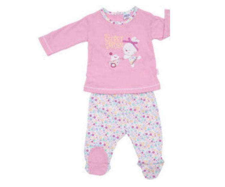 Pijama rosa para niña