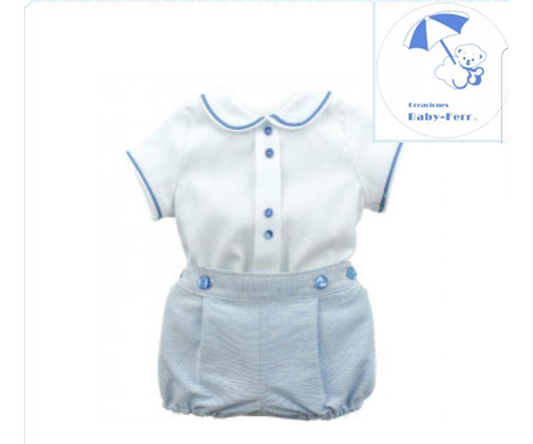 Conjunto de bebé con pantalón corto