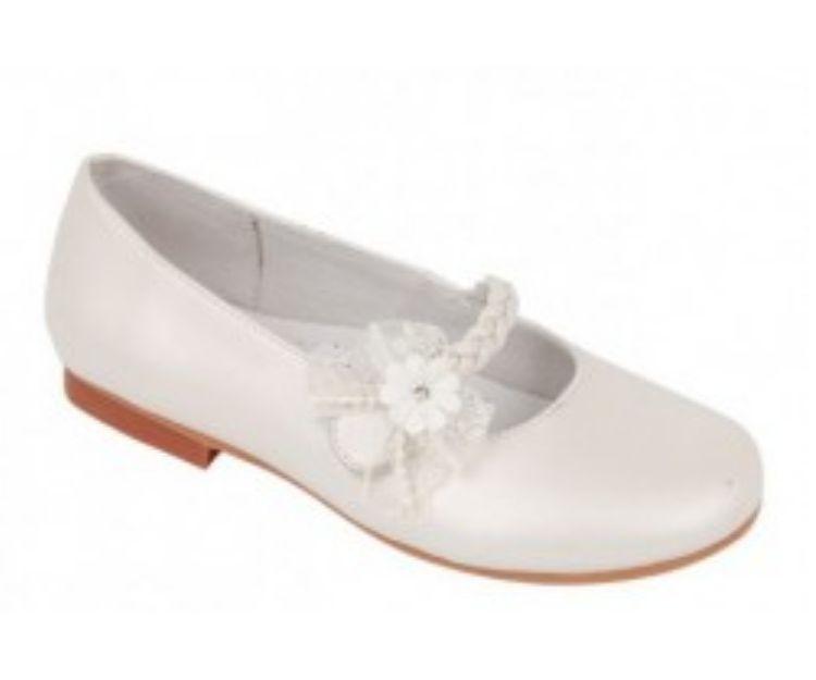 Zapato para niña con flor lateral