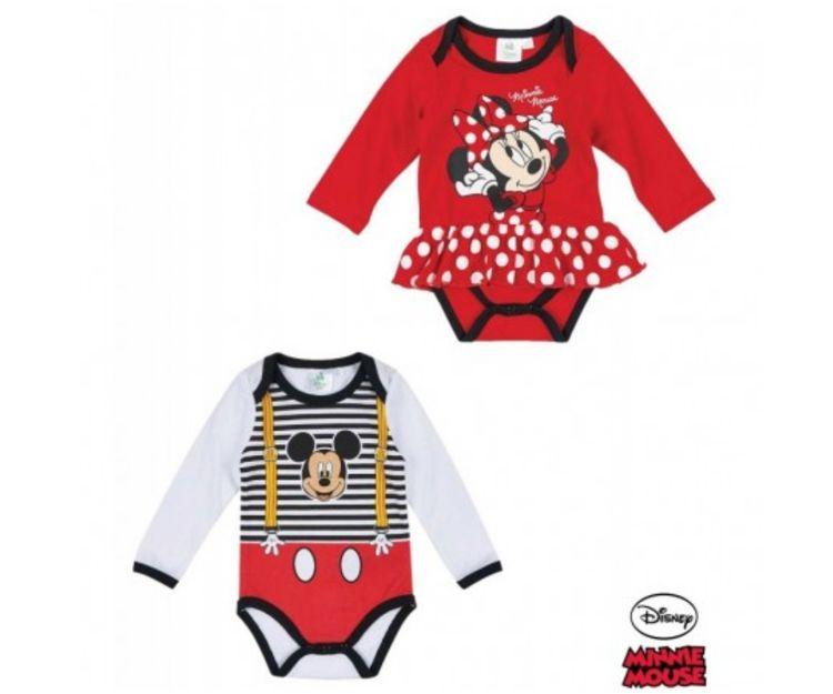 Body para bebé de Mickey y Minnie Mouse