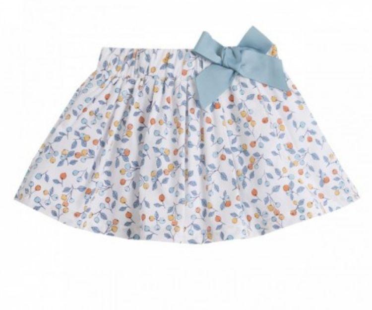 Falda para niña con flores