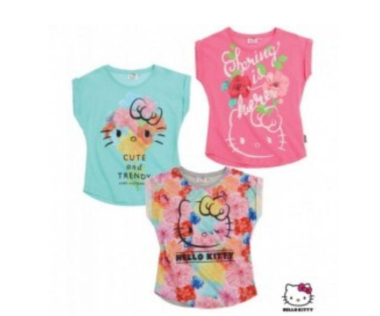 Camisetas de manga corta de Hello Kitty
