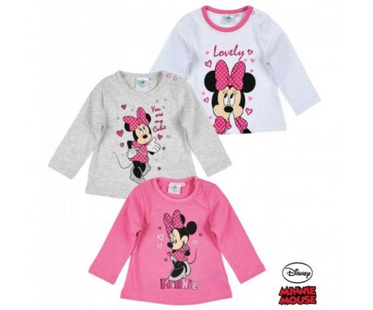 Camisetas con Minnie Mouse en distintos colores