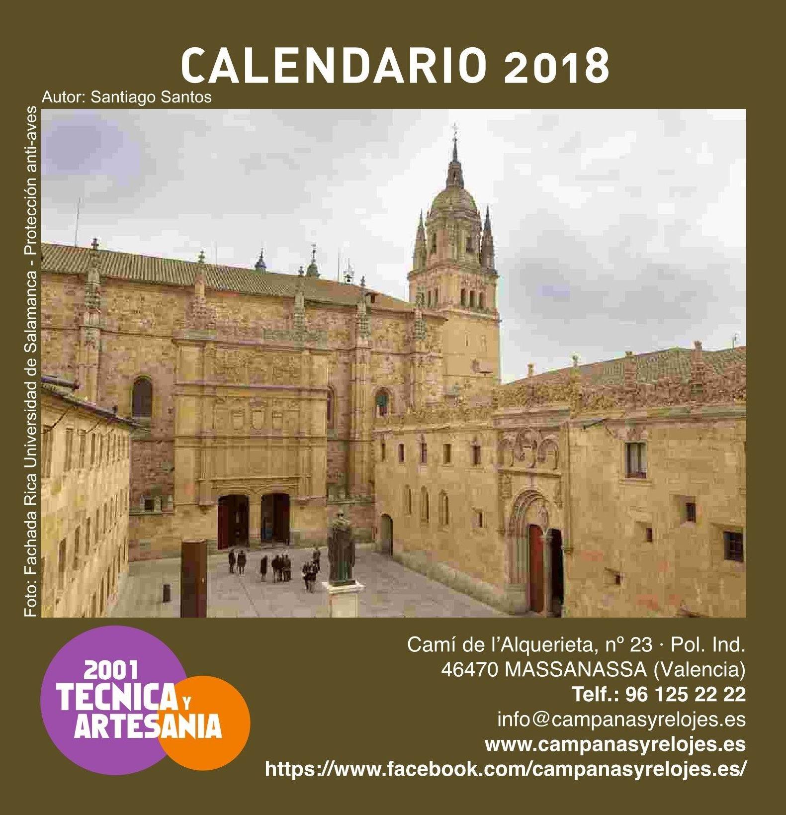 2001 Técnica y Artesanía, S. L. - Calendario 2018