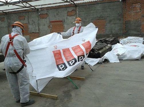 Retirada de amianto en Asturias
