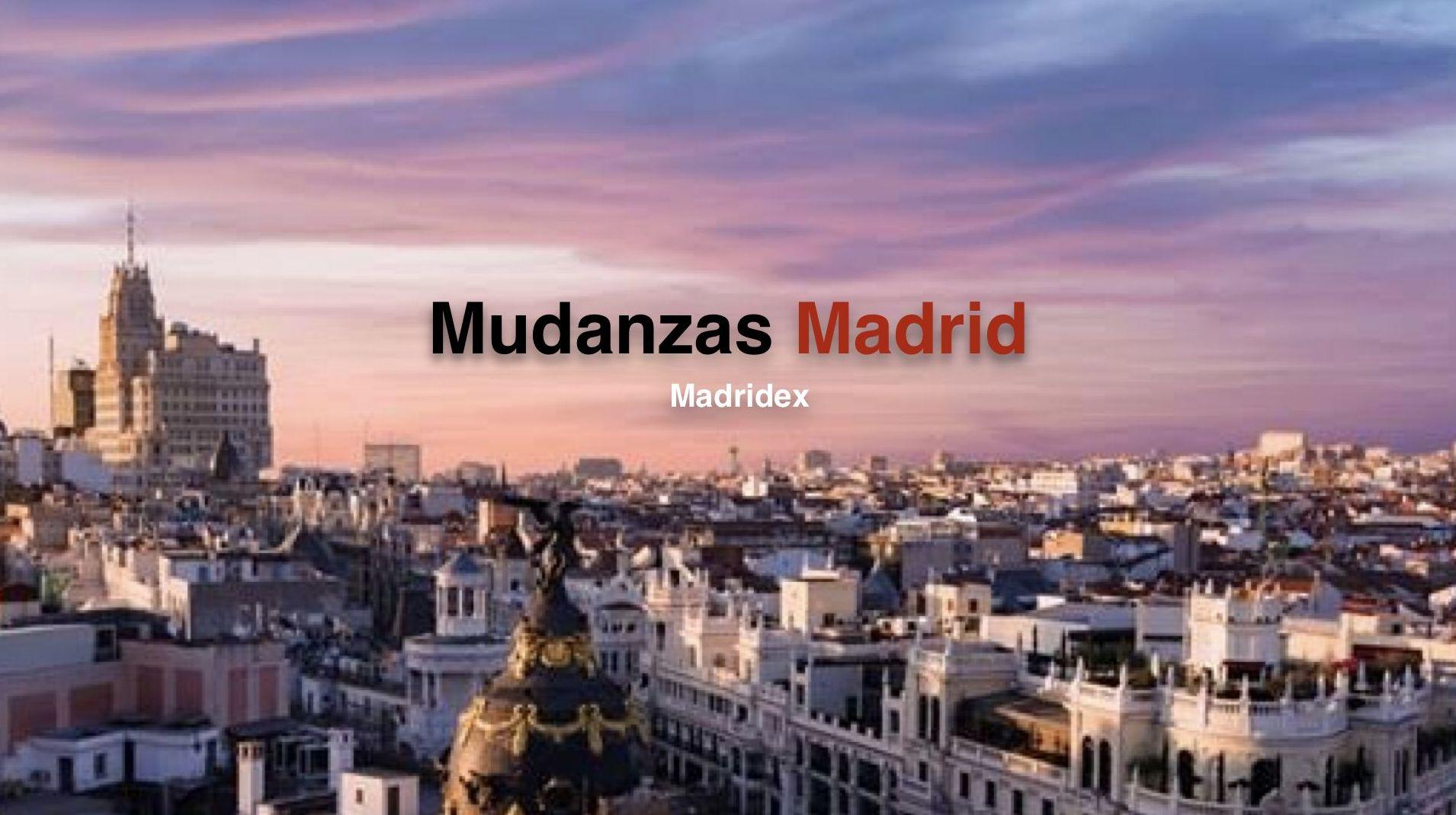 Mudanzas y portes baratos en Madrid Madridex mudanzas baratas