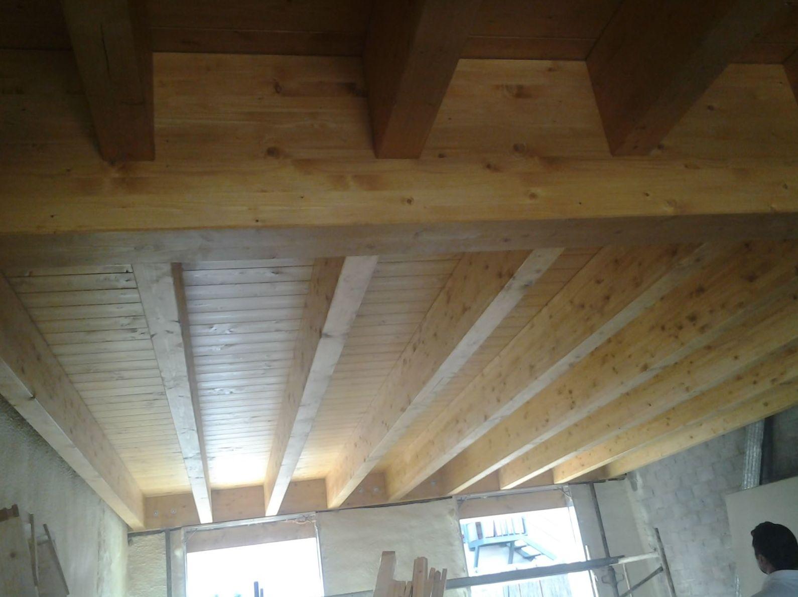 forjado construido en madera
