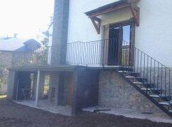 ampliación de terraza con estructura de hormigón