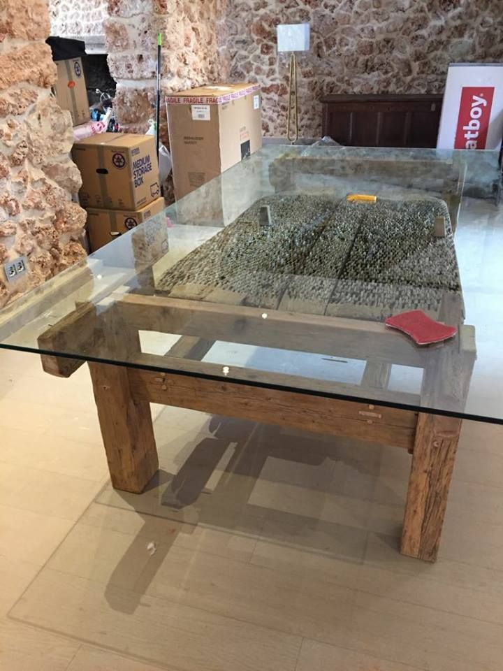Rustic style table in Mallorca