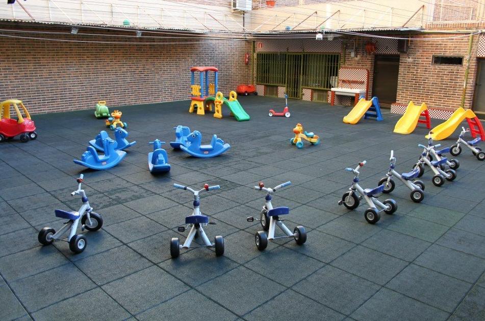 Patio de juegos al aire libre