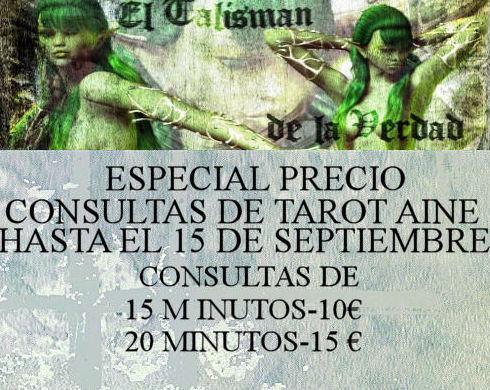 ESPECIAL PRECIO CONSULTAS DE TAROT AINE