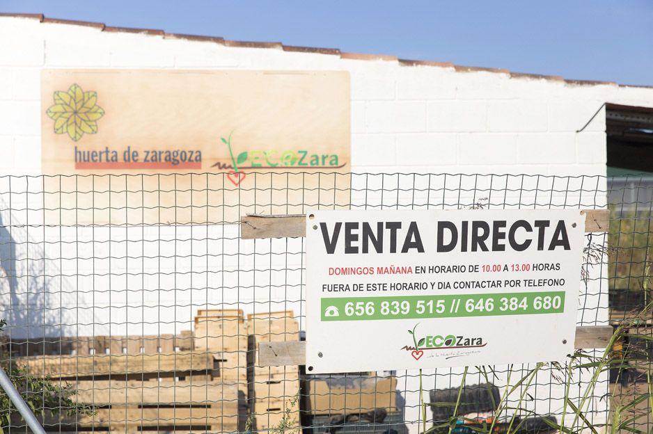 Venta directa de verduras ecológicas en Zaragoza