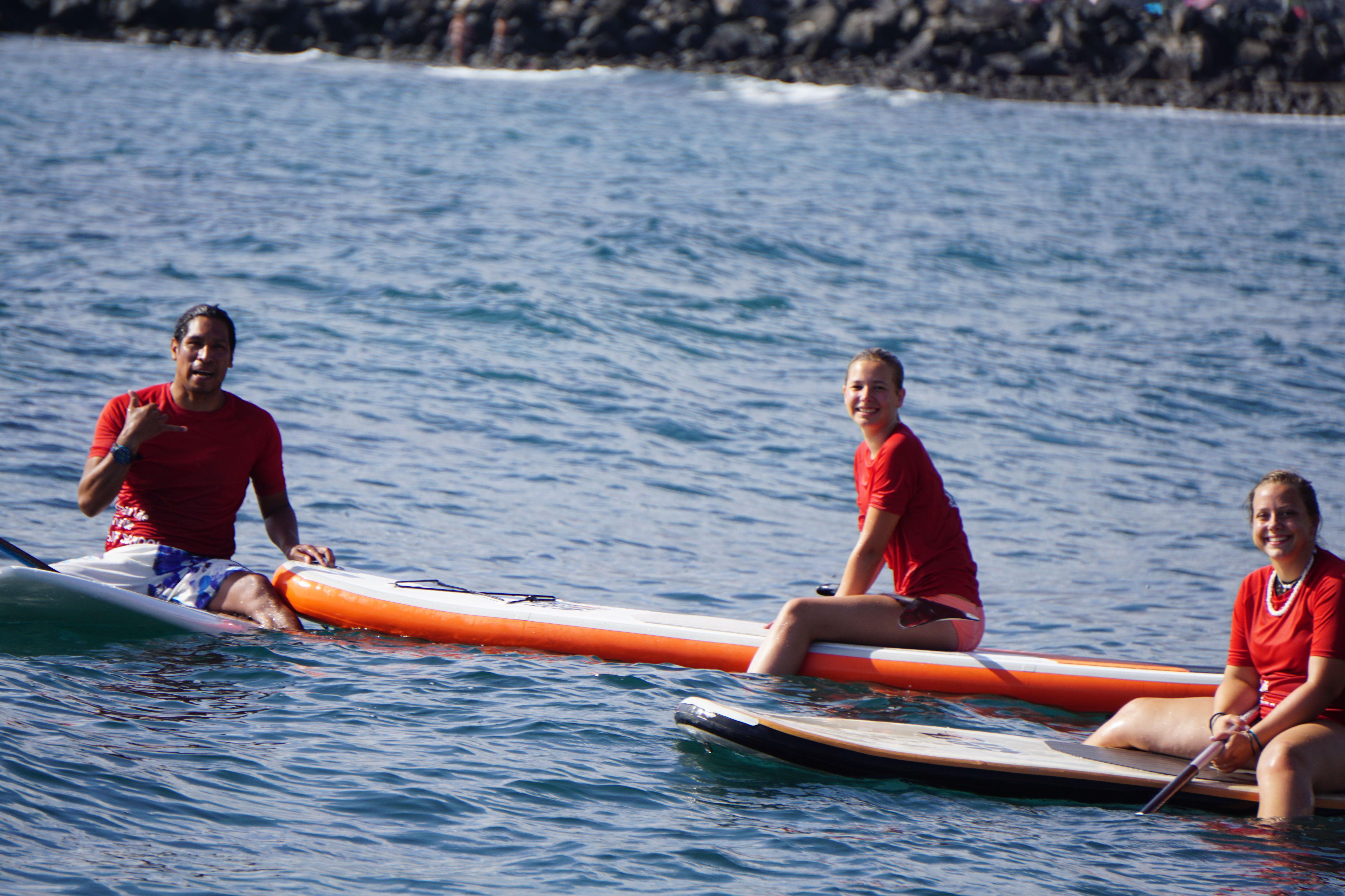 Paddel surf excursion ....happy faces