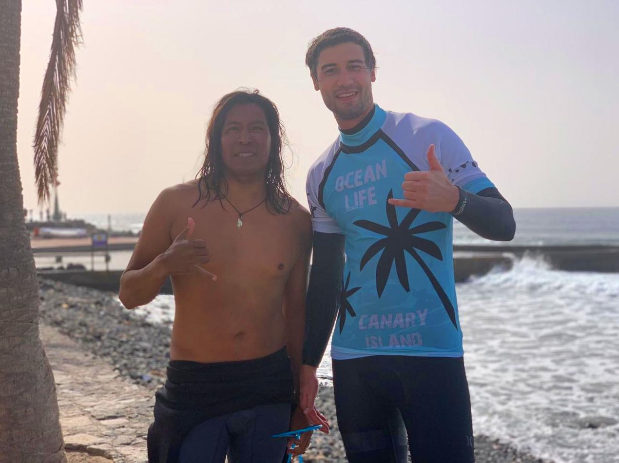 Kiril from Ukraine after his private surf lesson,aloha