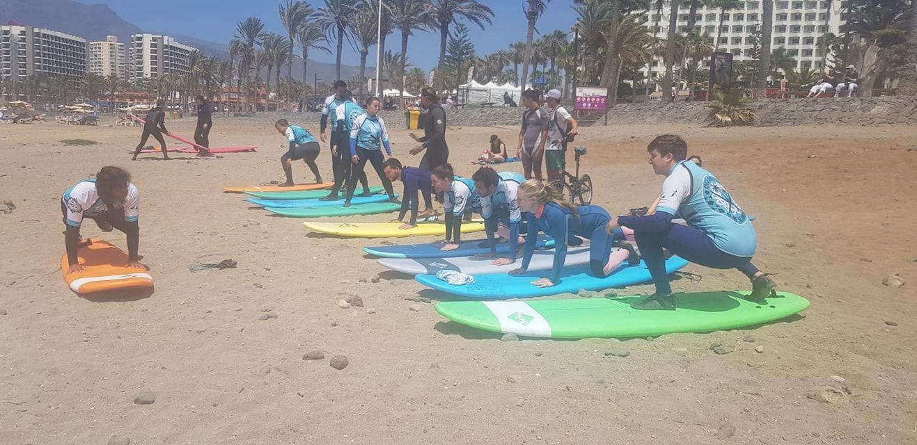 Surf courses in Tenerife