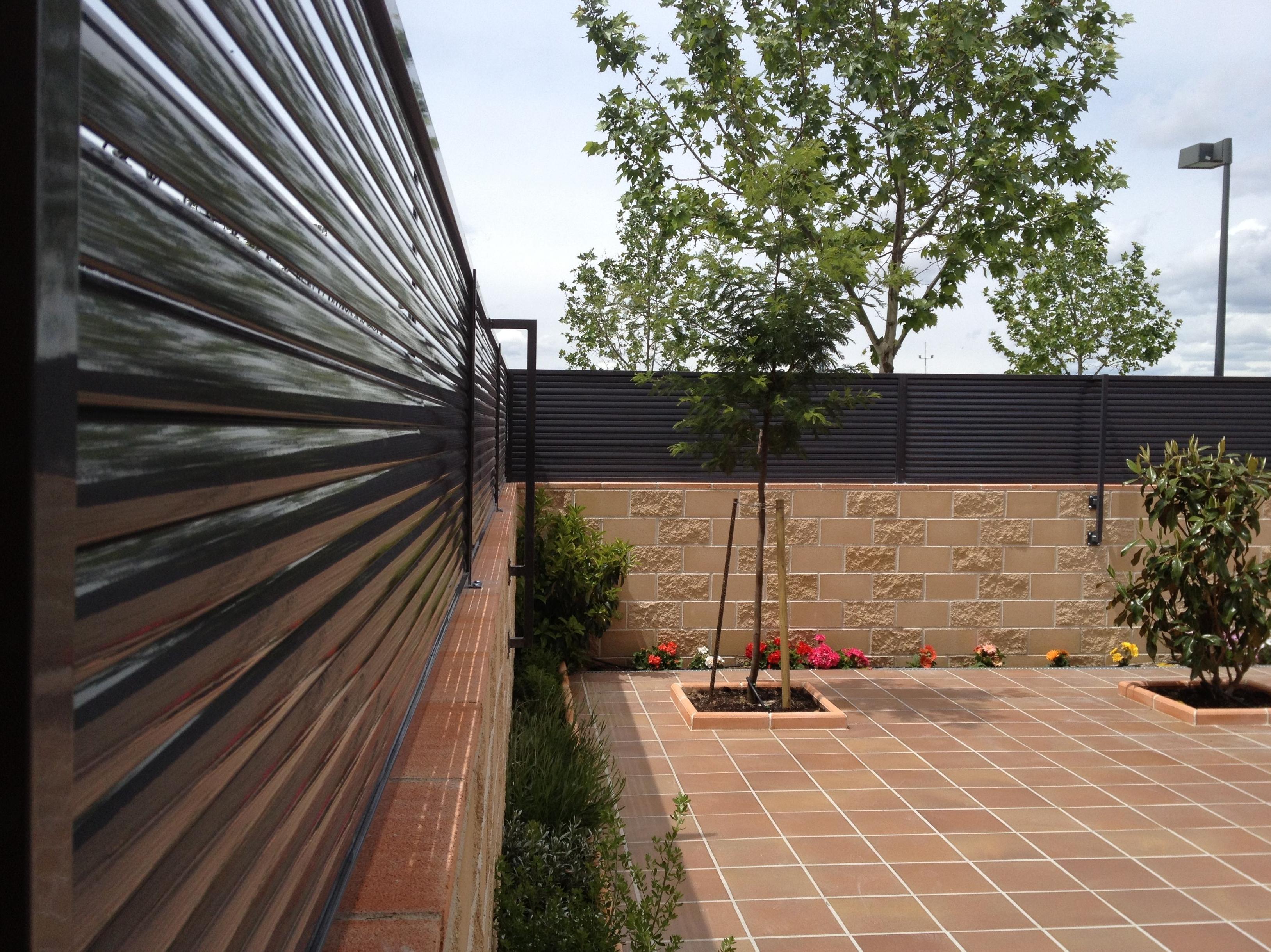 Detalle de cerramiento de patio