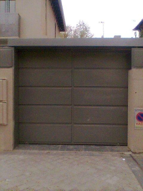 Puerta garaje imitación cemento
