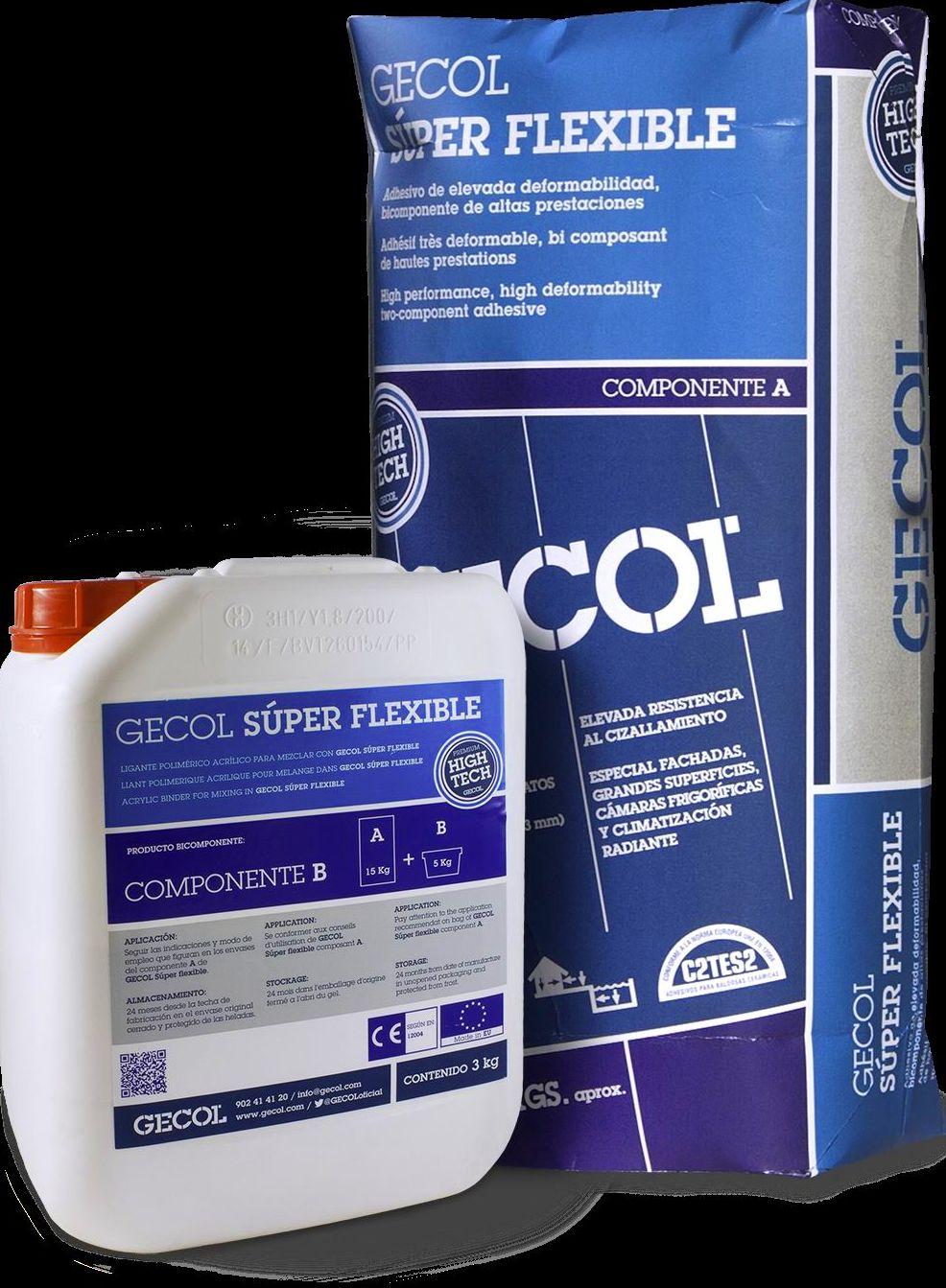 Gecol Súper Flexible Premium: Catálogo de Materiales de Construcción J. B.