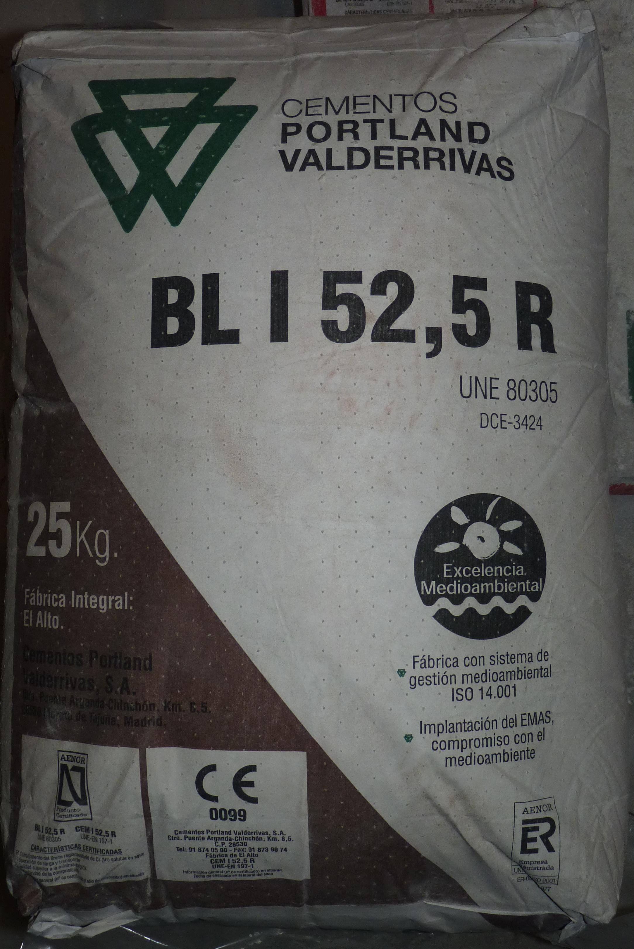 cemento blanco valderribas
