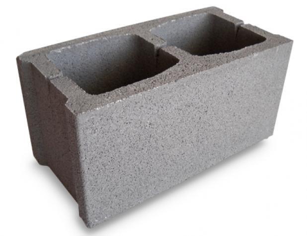 bloque de hormigón 39x19x19 rugoso