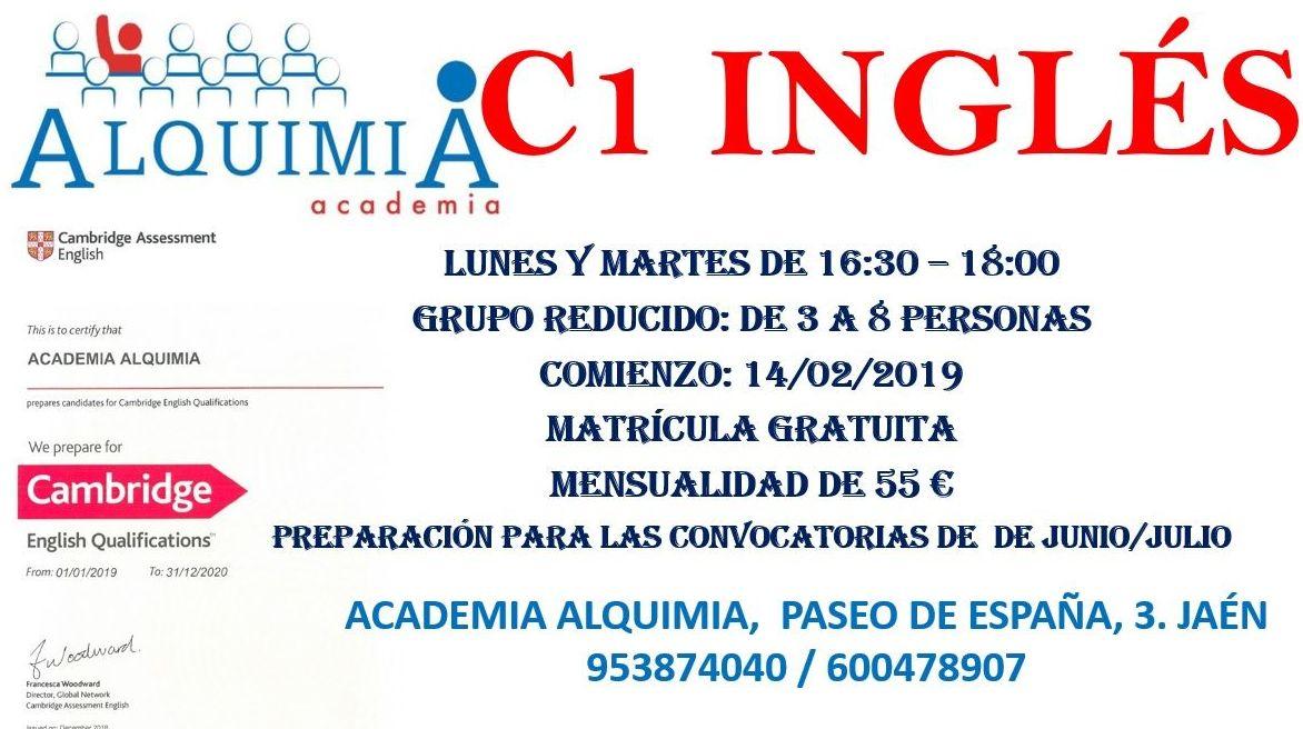 C1 INGLÉS CAMBRIDGE: NUESTRA OFERTA FORMATIVA de Alquimia
