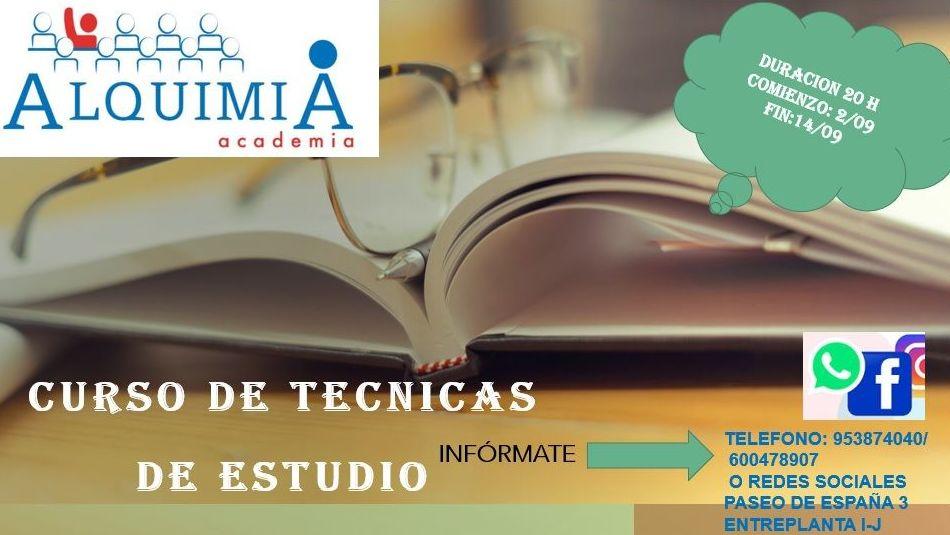 TÉCNICAS DE ESTUDIO: NUESTRA OFERTA FORMATIVA de Alquimia
