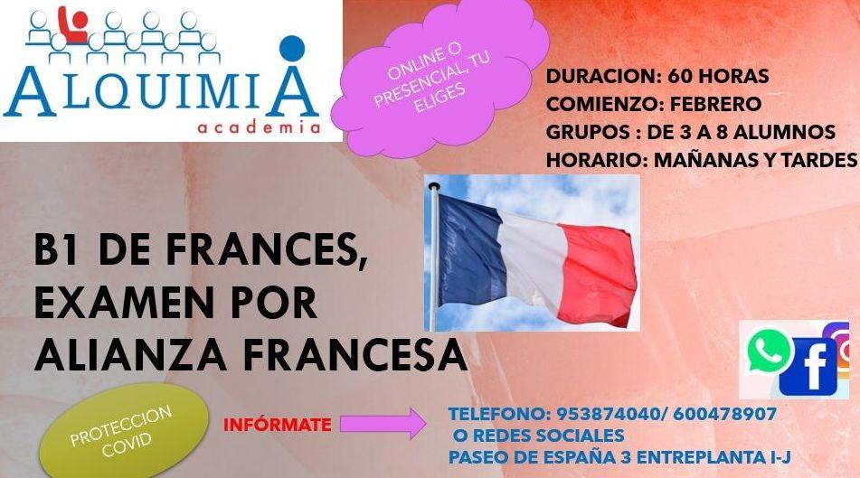 B1 DE FRANCES: NUESTRA OFERTA FORMATIVA de Alquimia