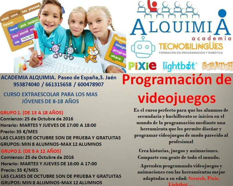 PROGRAMACION DE VIDEOJUEGOS: NUESTRA OFERTA FORMATIVA de Alquimia