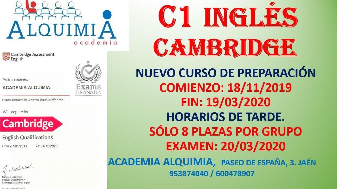 C1  CAMBRIDGE. Examen 20/03/2020: NUESTRA OFERTA FORMATIVA de Alquimia