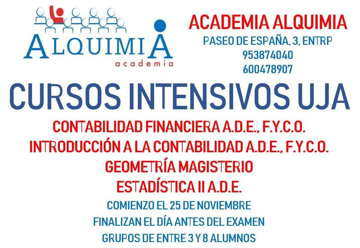 CURSOS INTENSIVOS UNIVERSITARIOS: NUESTRA OFERTA FORMATIVA de Alquimia