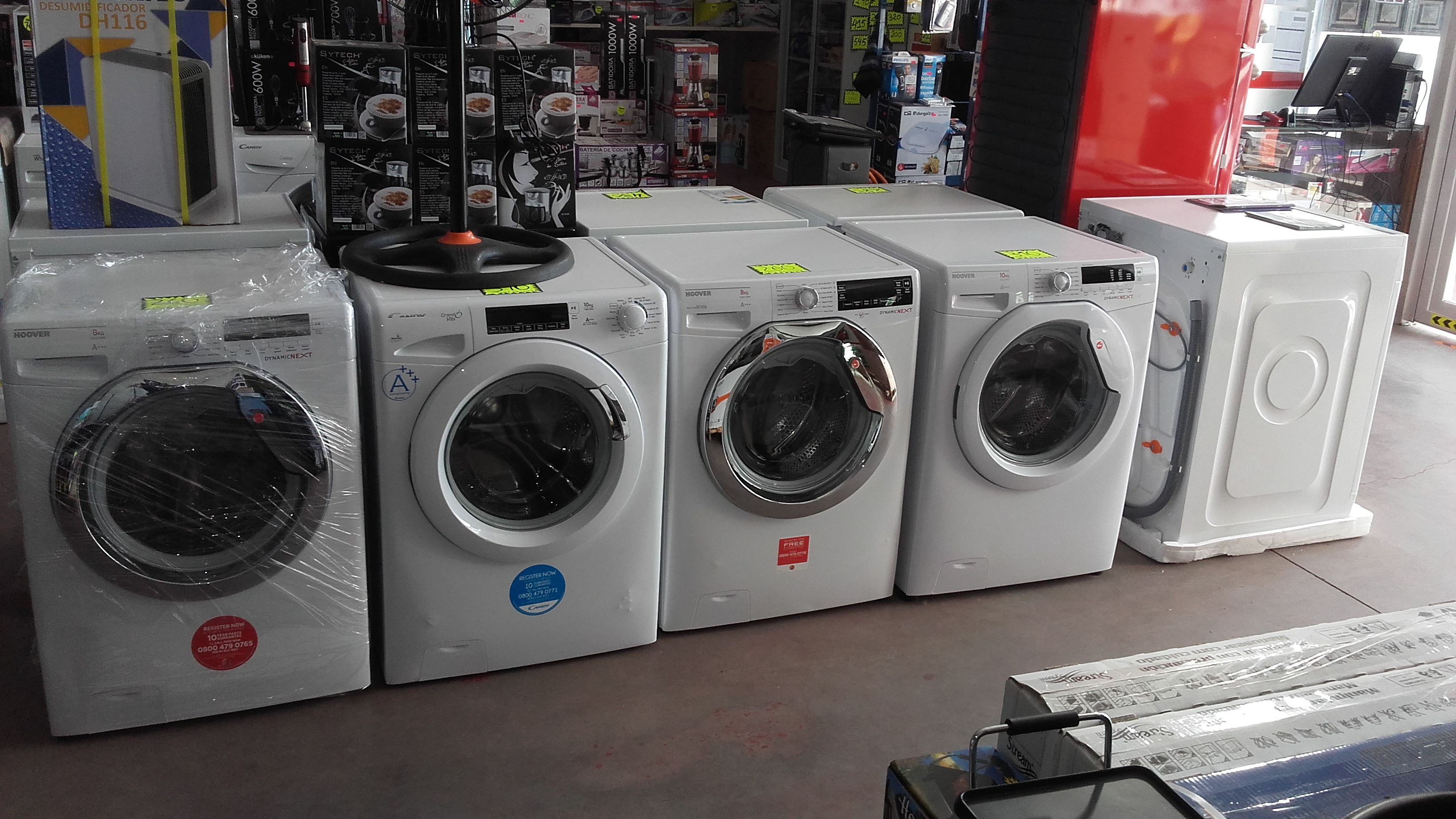 Venta de lavadoras. Servicio de entrega a domicilio