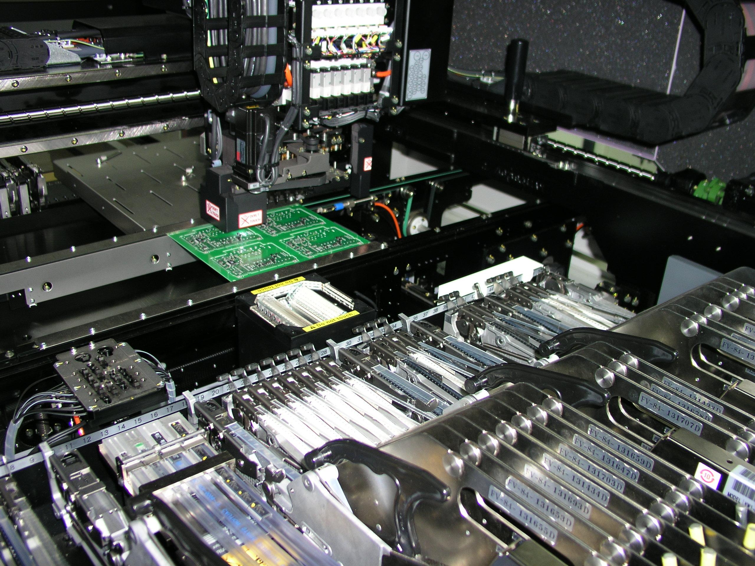 Insertadora automática SMD.