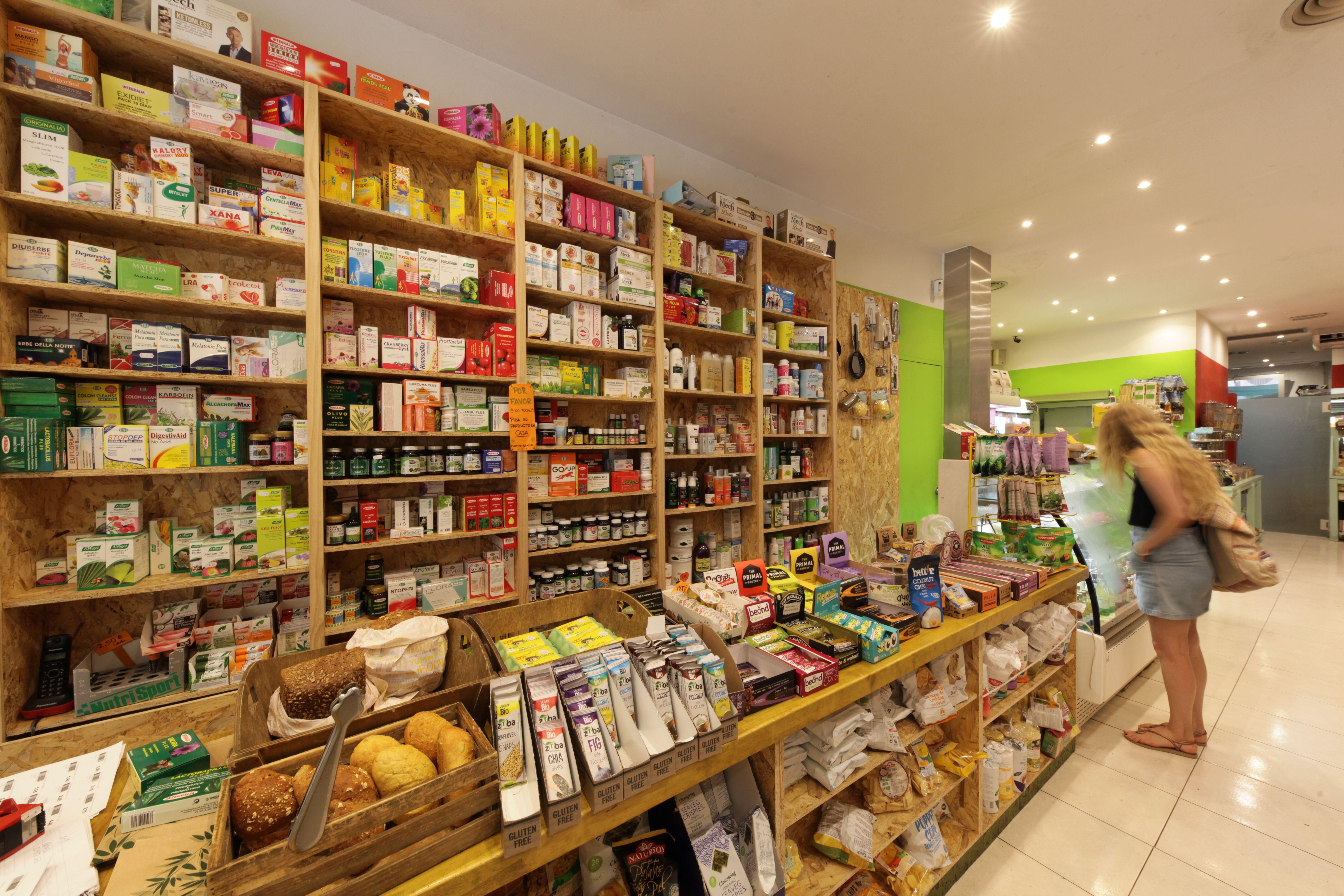 Amplia gama de superalimentos y complementos dietéticos Biorganic Ibiza