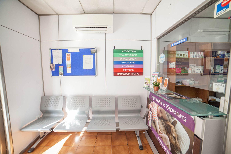 Recepción de la clínica veterinaria