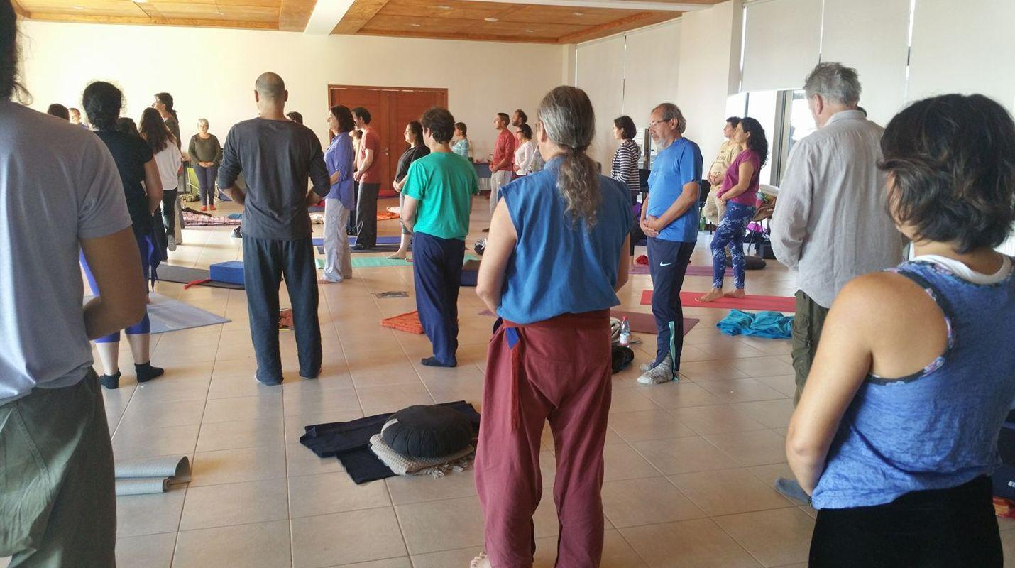 """Ir sin ir..."". Práctica meditativa caminando. Sat V Chile 17"