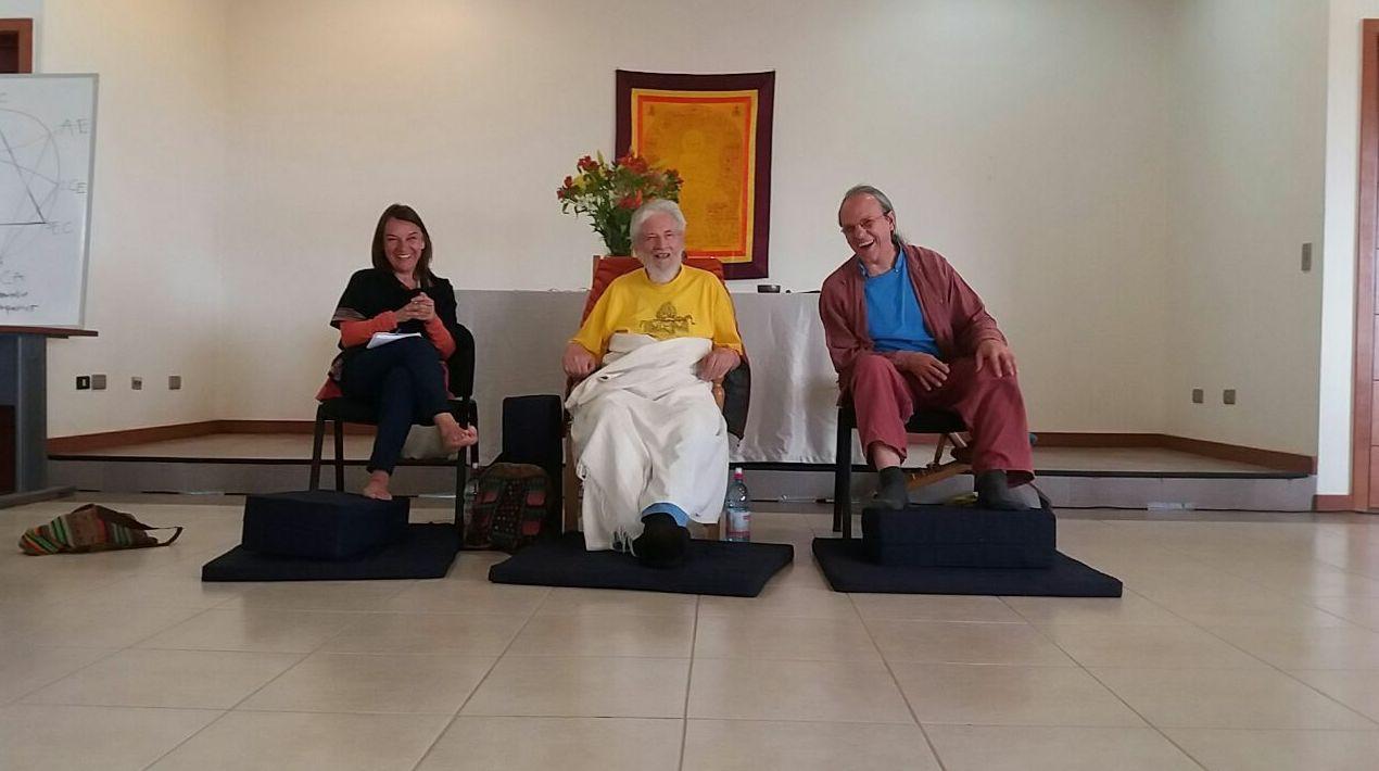 Con Claudio Naranjo y Ginetta Pachella, SAT V, Chile 17