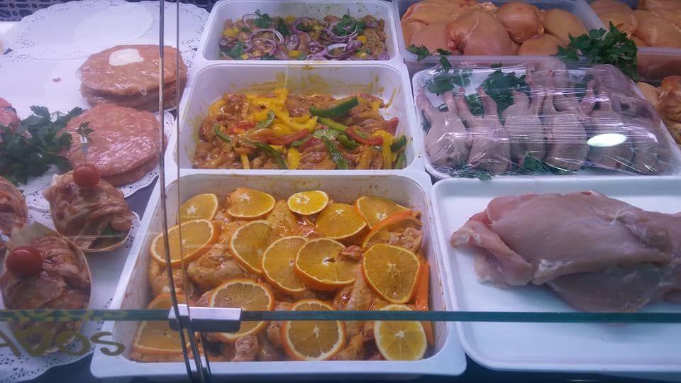 Puesto de pollos en A Coruña