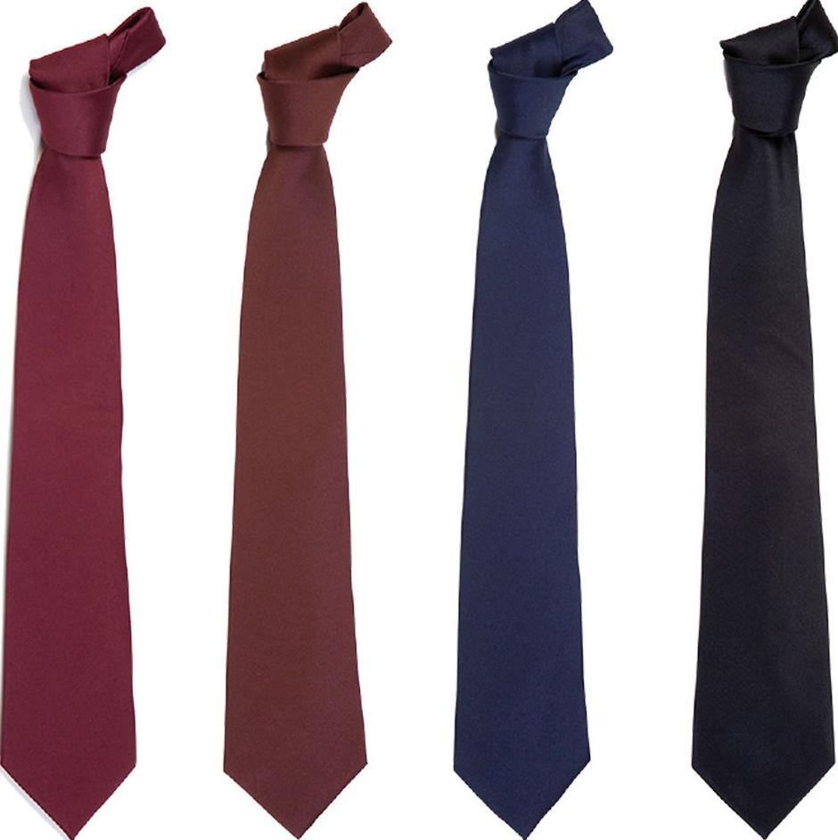 Diversos modelos de corbata plana