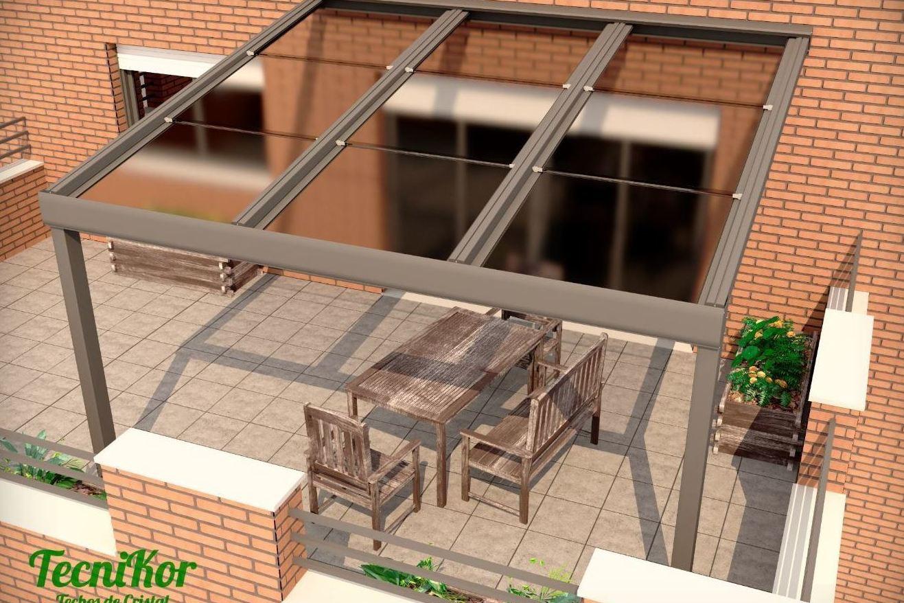 Tejados para terrazas interesting simple en la - Tejados para terrazas ...